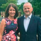 Sean Cox alongside his wife Martina