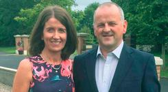 Martina with Sean, who suffered severe brain injuries