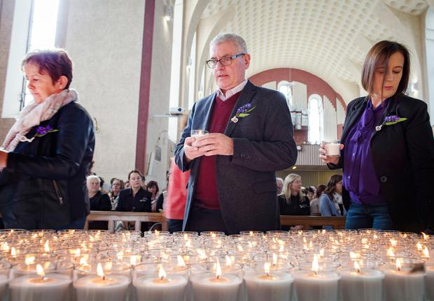 THANKS: Over 2,000 attended the Irish Kidney Association's Service of Remembrance at Corpus Christi Church, Dublin. Picture: Arthur Carron