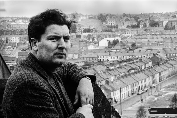 STRONG LEADERSHIP: John Hume, who helped bring about peace in the North, on a rooftop overlooking the Catholic Bogside neighbourhood of Derry in 1970. Picture: Leif Skoogfors/Getty Images