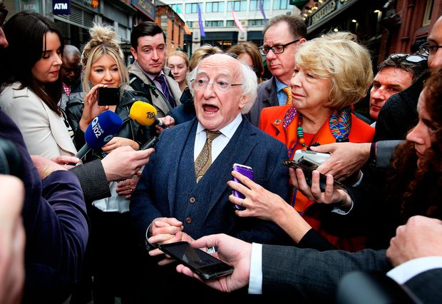 Presidential race: Michael D Higgins has been conscientious in office, but may not be the best possible candidate for the next seven years in the Aras. Photo: Steve Humphreys