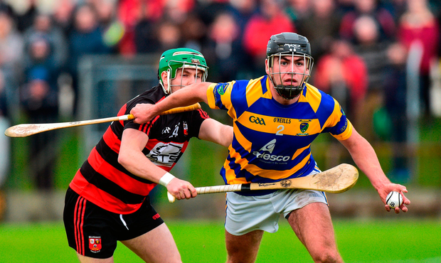 Brian Looby of Abbeyside in action against Conor Sheahan of Ballygunner. Photo by Matt Browne/Sportsfile
