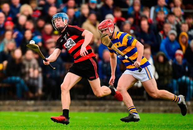 Tim O'Sullivan of Ballygunner in action against John Elsted of Abbeyside. Photo by Matt Browne/Sportsfile