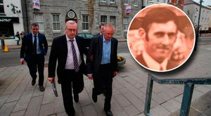 Michael Ferris (blue shirt, no tie) who appeared at Tralee District Court in May 2017. Anthony O'Mahony (inset) Pic:Mark Condren