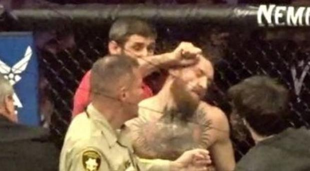 Zubaira Tukhugov attacked Conor McGregor from behind