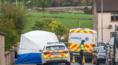The scene of the fatal stabbing at Dan Corkery Place, Macroom, Co. Cork. Pic Daragh Mc Sweeney/Provision