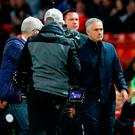 Manchester United manager Jose Mourinho leaves the touchline after the Premier League match at Old Trafford, Manchester. PRESS ASSOCIATION Photo. Picture date: Saturday October 6, 2018. Martin Rickett/PA Wire.