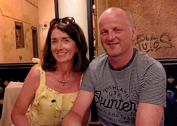 Attacked: Liverpool Sean Cox and his wife Martina