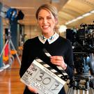 Amy Huberman on the set of 'Finding Joy'