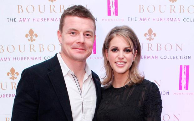 Amy Huberman with husband Brian O'Driscoll. Photo:Leon Farrell/Photocall Ireland