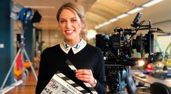 Amy Huberman stars in Finding Joy.