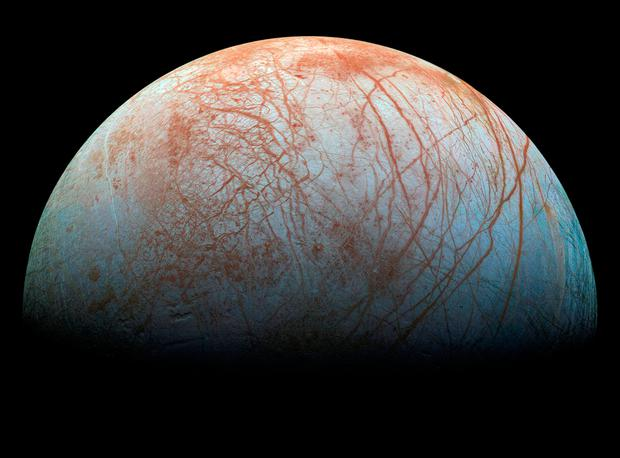 Giant, jagged 'ice spikes' cover Jupiter's moon Europa, new study suggests