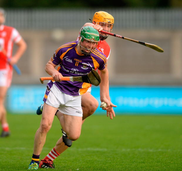 ON THE CHARGE: Fergal Whitely of Kilmacud Crokes in action against Cuala during the Dublin SHC semi-final at Parnell Park. Picture: Caroline Quinn