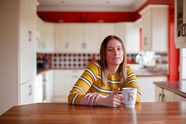 Karen McLoughlin works in a home in Tullamore caring for people with physical and intellectual disabilities. Photo: Jeff Harvey