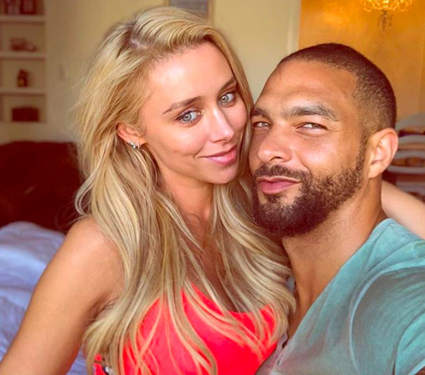 Una Healy with model Kenneth 'KP' Guidrozl in Los Angeles. Picture: Instagram