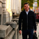 Finance Minister Paschal Donohoe arrives to work on Budget Day 2019(Photo: Gerry Mooney)