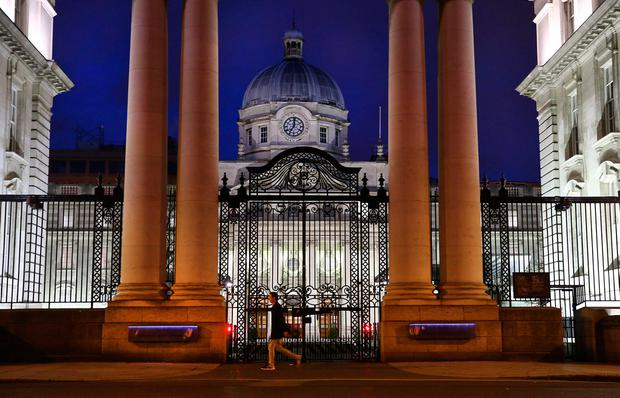 As day breaks over Government buildings and people make thier way to work, what can middle income earners expect from Budget 2019. Picture; Gerry Mooney