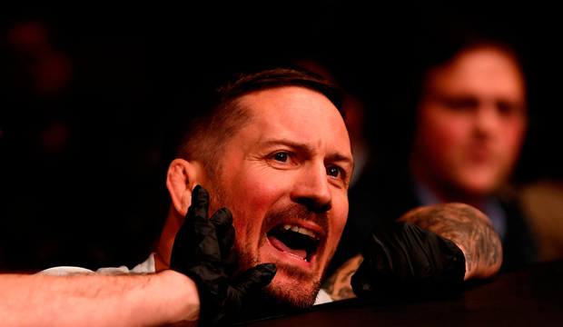 Coach John Kavanagh during UFC 229 at T-Mobile Arena in Las Vegas