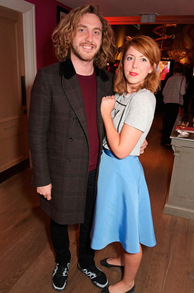 Seann Walsh (L) and Rebecca Humphries attend a special screening of The Donmar Warehouse production of
