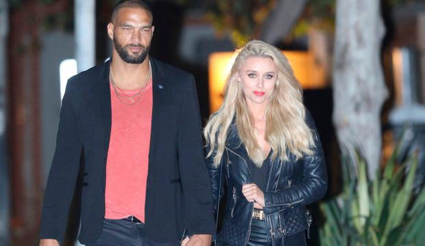 Una Healy heads to dinner with model Kenneth 'KP' Guidrozl at Nobu. Picture: MEGA