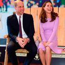 Prince William Duke of Cambridge and Catherine, Duchess of Cambridge attend the first Global Ministerial Mental Health Summit at London County Hall on October 9, 2018 in London, England