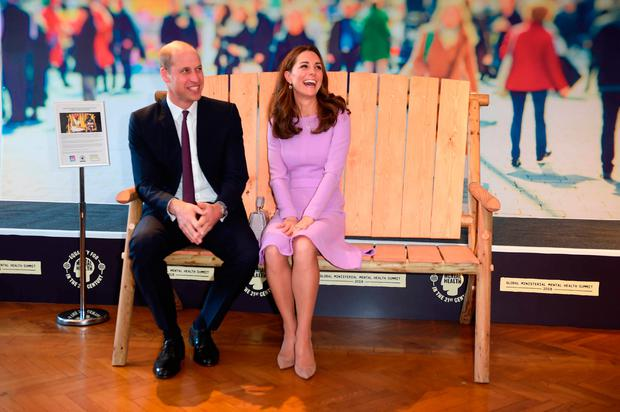 Prince William Duke of Cambridge and Catherine Duchess of Cambridge attend the first Global Ministerial Mental Health Summit at London County Hall