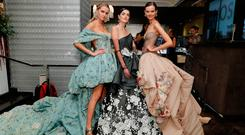 NEW YORK, NY - OCTOBER 05: Models pose at the Baccarat Celebrates designer Ines Di Santo during New York Bridal Fashion Week at the Baccarat Flagship on October 5, 2018 in New York City. (Photo by JP Yim/Getty Images for Ines Di Santo)