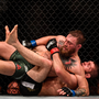 Conor McGregor, left, in action against Khabib Nurmagomedov
