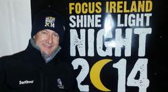 Alan Bateson preparing for a previous Shine A Light event in 2014