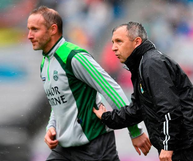 Top team: New Kerry manager Peter Keane (right) will have Tommy Griffin and Donie Buckley on his team as he bids to revitalise Kingdom. Photo: Stephen McCarthy/Sportsfile