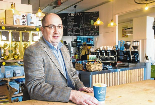 Concern: Rob Horgan, of Café Velo, is worried about the impact of the VAT increase. Photo: Daragh Mc Sweeney/Provision