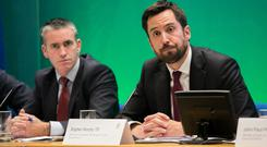 Plans: Housing Minister Eoghan Murphy (right) and Urban Development Minister Damien English (left). Photo: Collins