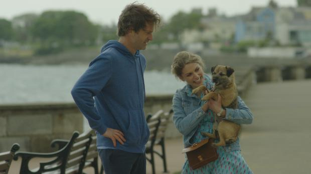Finding Joy - Aidan (Lochlann O Mearáin), Joy (Amy Huberman) and Canine Aidan (Fern)