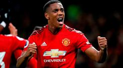 Manchester United's Anthony Martial