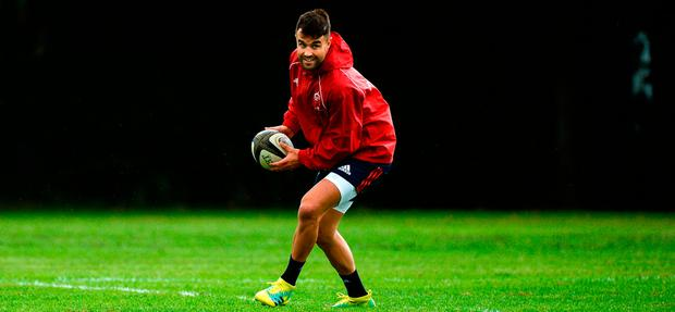Home is where the heart is: Conor Murray, here pictured training at UL last month, will be hoping for more success with Ireland and Munster. Photo by Diarmuid Greene/Sportsfile