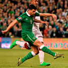 Long wait: It's three years this week since Shane Long's famous winner against Germany. Photo: Sportsfile