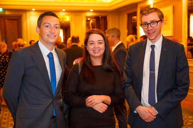 Kevin Doyle INM Group political Editor, Laura Larkin Political Correspondent and Ed MCCann INM Group Managing Editor at the INM Events Budget 2019 Breakfast briefing with KPMG at the Westbury Hotel. Pic:Mark Condren