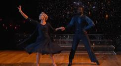 Evanna Lynch during her Viennese Waltz on Dancing with the Stars US