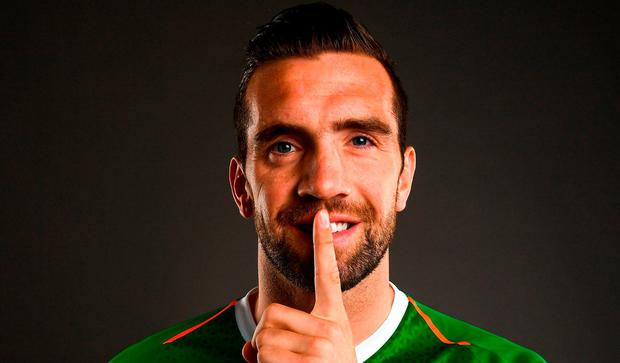 Shane Duffy of Republic of Ireland poses for a portrait during a squad portrait session at their team hotel in Dublin. Photo by Stephen McCarthy/Sportsfile