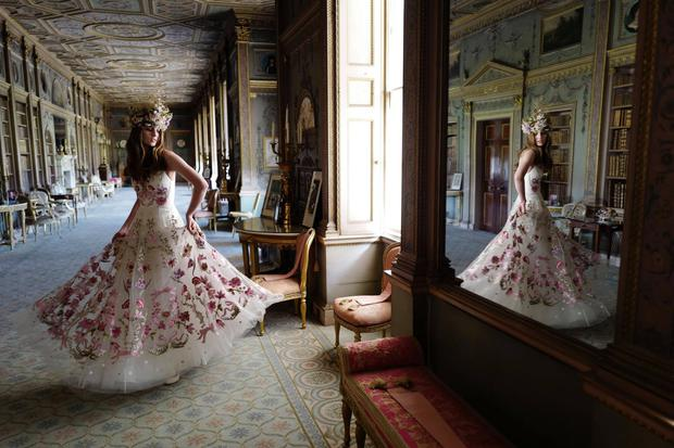 The Bibi Bridal Gown from Temperley Bridal's Winter 2017 Bridal campaign shot at Syon Park