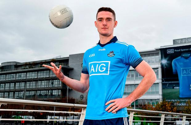 BLUE BLOOD: Brian Fenton at the launch of the new Dublin GAA jersey yesterday. Photo: Sam Barnes/Sportsfile