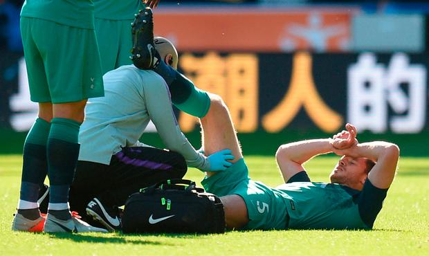 Jan Vertonghen is out until December with a hamstring injury. Photo: AFP/Getty Images