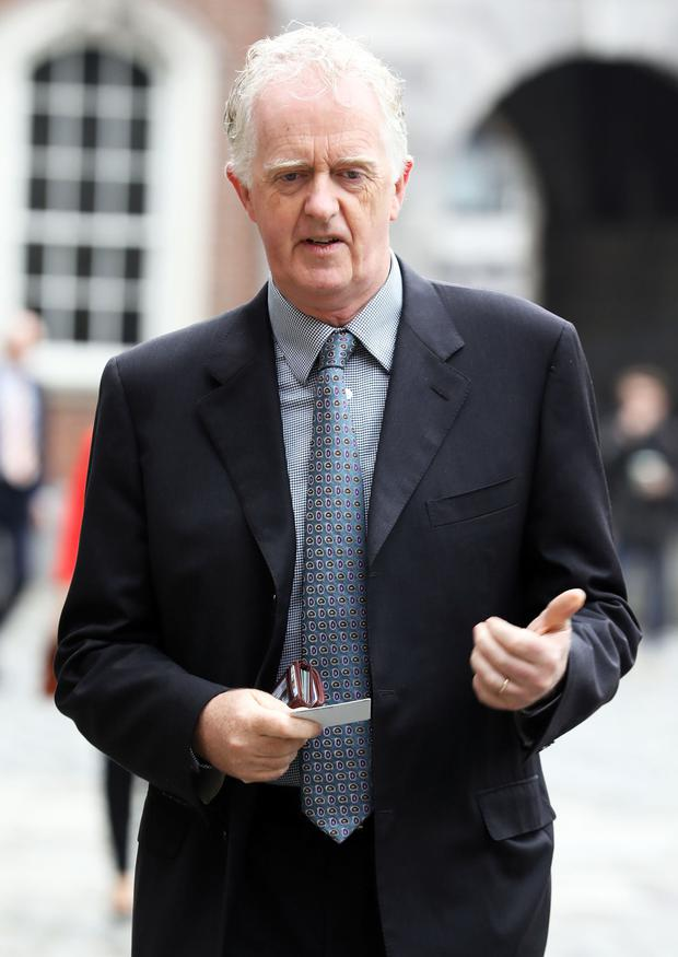 Report: Judge Peter Charleton at the Disclosures Tribunal in Dublin Castle. Photo: Collins Photos