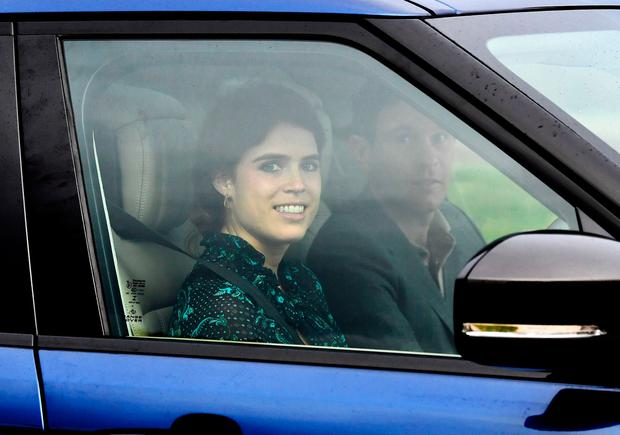 Britain's Princess Eugenie and Jack Brooksbank leave Windsor Castle a day ahead of their wedding in Windsor, Britain, October 11, 2018. REUTERS/Dylan Martinez