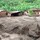 Damaged housing is seen after a landslide in Bududa, Uganda, in this still image taken from video on October 12, 2018. Reuters TV/via REUTERS