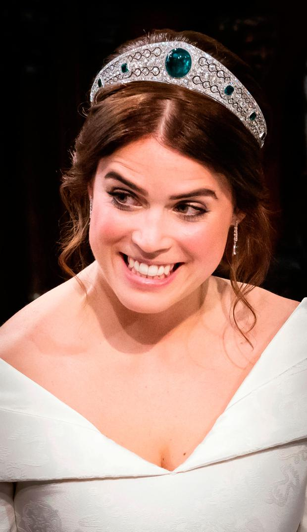 Princess Eugenie during her wedding to Jack Brooksbank at St George's Chapel in Windsor Castle