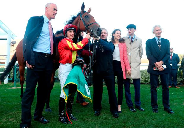 Ruler of the World's Iridessa Wins the Fillies Mile
