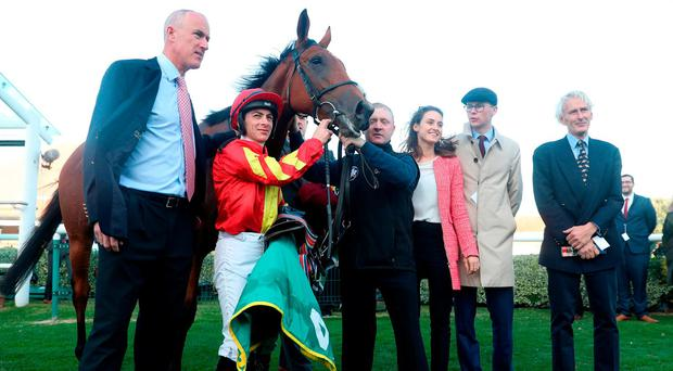 Watch: 14/1 shot Iridessa gives Joseph O'Brien his first Group One win in Britain as a trainer