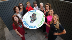 Pictured are, from left, Joan Walsh, Managing Director of Partnership International, Vicki O'Toole, Managing Director of JJ O'Toole Ltd, Louise Lovett, Chief Executive of Longford Women's Link CLG, Anne Reilly, Founder and Managing Director of Paycheck Plus, Sarah Slazenger, Managing Director of Powerscourt Estate, Martina Hamilton, Owner and Founder of The Cat and the Moon, Vanessa Tierney, Co-Founder of Abodoo, Oonagh O'Hagan, Managing Director of Meagher's Pharmacy and Chiara Keating, Founder and Managing Director of Uniformal Ltd, at the launch of National Women's Enterprise Day 2018.