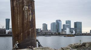 General view of Canary Wharf in London (PA)